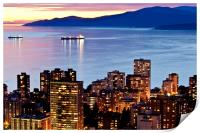 Twilight English Bay Vancouver Pacific North West, Print