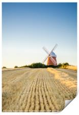 Halnaker Windmill in West Sussex, England, Print