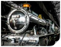 In Didcot Engine Shed - 5322, Print