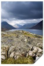 Wastwater towards Great Gable, Print