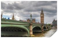 Westminster bridge, Print