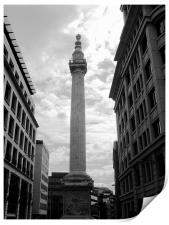 The Monument in London in Black and White, Print