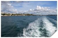 Boat Trip on Plymouth Sound, Print