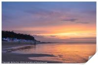Sunset and tranquility at Wells next the Sea, Print