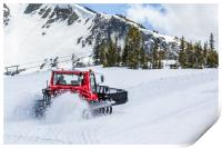 Snow plough clearing snow, Print