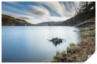 Ladybower reservoir from the top, Print