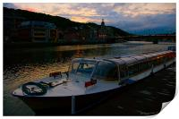 evening in dinant, Print