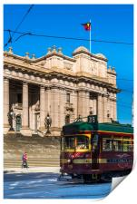 Old City Centre tram outside Parliament House, Print