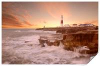 Portland Bill Sunset, Print