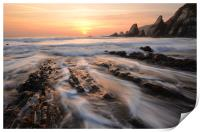 Foaming Surf at Westcombe Beach, Print