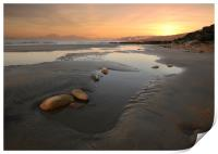 Charmouth Sunset, Print