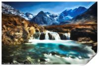 Fairy Pools, Isle of Skye, with an impressionist p, Print