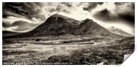 Storm clouds over Stob Dearg, Print
