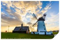 Windmill and OldLifeboat House, Print