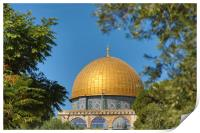 The Temple Mount Dome of the Rock, Jerusalem, Print