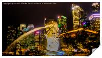 Merlion, Central Business District, Print