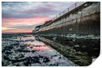 Sunset reflections Ramsgate Western Undercliff, Print