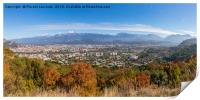 Grenoble Panorama looking to the east, Print