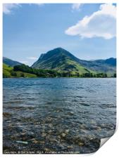 Fleetwith Pike On Buttermere., Print