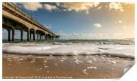 Boscombe Pier from the beach, Print