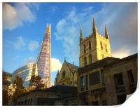 Southwark Cathedral and The Shard, Print