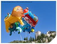 Flights of fantasy, novelty balloons and castle, Print