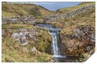 Moorland Stream Waterfall, Print