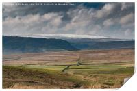 Over to Murton Fell, Upper Teesdale, Print