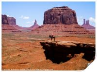 Monument Valley and the Horseman, Print