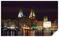 Liverpool Pierhead at Night, Print