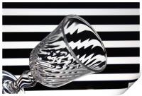 Glass and Stripes, Print