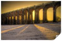 Balcombe Viaduct in the Snow at Sunset, Print