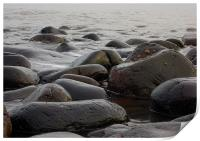 Boulders on the beach, Print