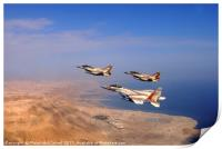 2 F-16 and one F-15 IAF fighter jets, Print