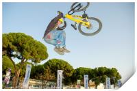 Extreme Bicycle sport jump, Print