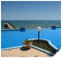 Sea View From The Pool, Print