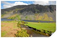 Wastwater and Nether Beck., Print