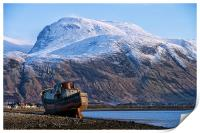 Ben Nevis and Boat, Print