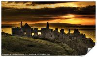 Sunset over Dunluce Castle, Print