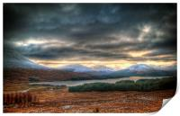 Winters Sun Over Loch Tulla, Print