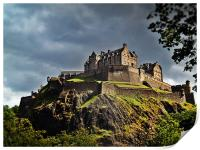 Edinburgh Castle, Scotland., Print