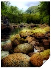 River Etive In The Highlands, Print