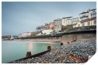 Cromer from the shingle, Print