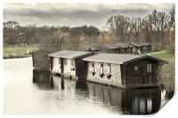 Wooden Boathouses, Print