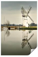 Thurne Mill in January, Print