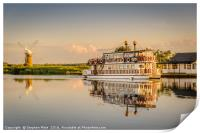 Paddle Boat Southern Comfort, Print
