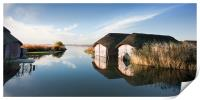 Hickling Broad Boat Houses, Print