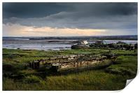 Wrecks on the River Medway, Print