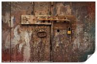 Old Bolt and Padlock, Print