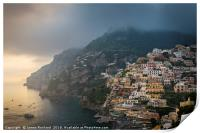 Clouds Over Positano, Print